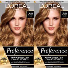 2X L'Oréal Paris Preference Infinia 7.3 Florida Honey Blonde Hair Dye