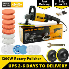 19PCS Car Polisher Sander Buffer Variable 6 Speed Polishing Machine Buffing Pads