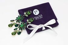 Philippe Ferrandis Paris Green Crystal Earrings