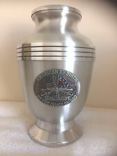 429 oval Dixie Southern Patriot Funeral Cremation Urn- free plate!