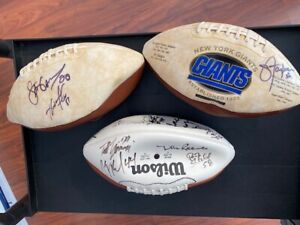 Lot of (3) NY Giants Signed Footballs:  Taylor LT - Reeves - Williams - + MORE !