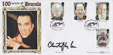 "PSA/DNA ENCAPSULATED CHRISTOPHER LEE SIGNED ""100 YEARS OF DRACULA"" FDC CACHET"