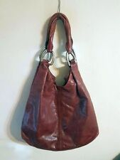MIU MIU Burgundy Leather Vitello Vintage Hobo Shoulder Bag Handbag Tote Purse