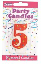 Birthday Candle Numeral ** 5 ** Fun & Colourful - Perfect for all cakes!