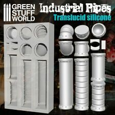 Silicone Molds - Industrial Pipes - for resins - Impression walls warhammer 40K