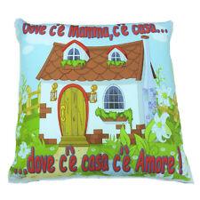 MAMMA cuscino da arredo stampato DOVE C'E' MAMMA, C'E' CASA... circa 33x33 cm