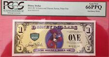 2013D $1 Peter Pan Disney Dollar,  Graded Gem New 66PPQ, D022016