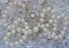 Love Pearlsღ♥ Perlen Kette in aus 14kt 585 Weiß Gold mit Perle Collier Perlkette