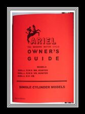 Ariel Models 350NH, 500VH Hunter & 600VB Owners Guide Manual +Parts List Booklet