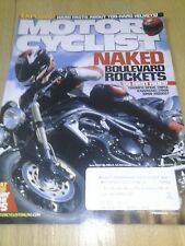 MOTORCYCLIST MOTORCYCLE MAGAZINE 2005 JUNE TRIUMPH TRIPLE BMW R1200ST Z750S GSXR