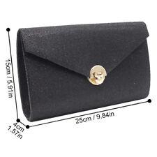 Lady Clutch Purse Wallet Hard Case Glitter Evening Bag Handbag With Chain Strap