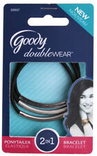 Goody Double Wear Textured Elastics Ponytailer for All Hair Types - 3 Count