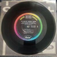 """BEATLES SECOND ALBUM CAPITOL COMPACT 33 rpm 1964 7"""" JUKEBOX EP SXA-2080 No Cover"""