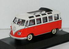 MINICHAMPS 1/43 430 052302 - VW BUS SAMBA - RED (ORANGE) / CREAM
