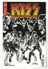 KISS: BLOOD and STARDUST #2 RODNEY BUCHEMI B & W SKETCH VARIANT COVER E - 1/10