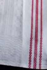old metis kitchen Runner Towel with red stripes and woven pattern