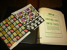 CHRISTMAS SEAL COLLECTION ON WHITE ACE PAGES-1907-1983!