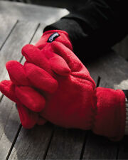 Result Polartherm Gloves Active Polyester Fleece Elasticated Chill Protec(R144X)