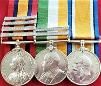 BRITISH QUEEN'S/KING'S SOUTH AFRICA BOER & RFC FIRST WAR SERVICE MEDALS DEELEY