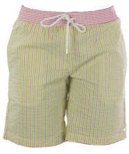 NAILA Men's Pink/Green Swim Trunks W/Pockets KI121 Sz Small $110 NEW