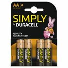 4 x Duracell Simply AA 1.5v Power Battery Pack Alkaline LR6 MN1500 Long Lasting