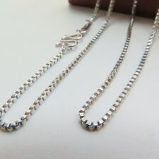 Authentic Solid Platinum 950 Necklace / Men&Women Box Chain Necklace