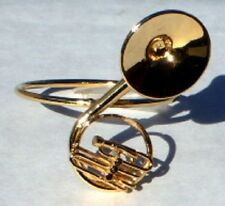"Sousaphone Tuba miniature 1.875"" gold plated handmade collectible Napkin Ring"