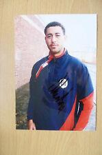 Signed Colour Pictures- LEWIN NYATANGA, Welsh International Footballer (7x5)
