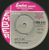 """The Dale Sisters – Road To Love / Secrets Scarce 7"""" Vinyl Ember 1962 S151"""