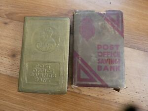 Money Box Post office Bank Book Shaped Vintage with  original protective cover