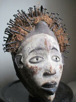 """MASQUE YOMBE AVEC CLOUS"" RDC (EX-ZAÏRE) ART AFRICAIN TRIBAL PRIMITIF"