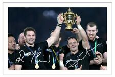 McCAW & D CARTER NEW ZEALAND ALL BLACKS WORLD CUP 2015 RUGBY SIGNED PHOTO PRINT