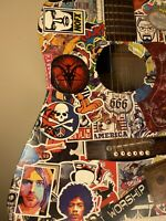 Rare Sticker Art Sakura Acoustic Guitar Folk Punk Alternative Rock Money Nirvana