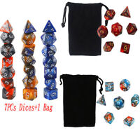 7PCs Dungeons & Dragons Dice Polyhedral Game Dice For Playing Game