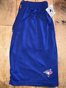 Men's Majestic Toronto Blue Jays Classic Blue Mesh Shorts NWT Small