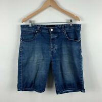 Abrand Jeans Mens Denim Shorts Size 34 Blue Button Closure Jeans
