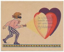 1920's I'm A Bold Bad Bandit And I'll Get Your Heart My Valentine Flashlight Boy