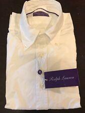 Ralph Lauren Purple Label White Cotton Long Sleeve Button Down Shirt 15 1/2