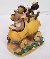 Charming Tails Sometimes the Road is Bumpy mouse pear car acorns