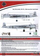 "OWL DecalsOWLD32018 1:32Heinkel He-219A-0 'Uhu' ""Eagle Owl"" DV+DL"