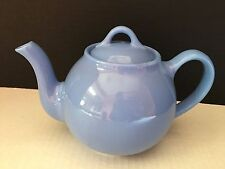 VINTAGE HALL POTTERY TEAPOT LIGHT BLUE LIPTON'S TEA TEAPOT Made in USA *Fast S/H
