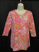 Soft Surroundings Knit Top Colorful Beaded Shimmering Trim Size PS Petite Small