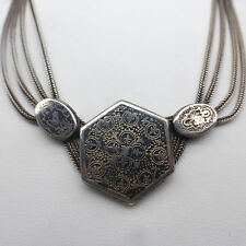 ❂ ► Antikes Collier, Tula- Silber 900, wohl 19. Jhd, Halskette, Kette, Necklace