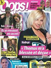 """OOPS! n°119 21/09/2012 Nadège de """"Secret Story""""/ R.Pattinson/ K.Holmes/ Longoria"""