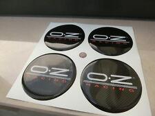 KIT COPRIMOZZI BORCHIE CAP CAPS CENTER RESINA 3D X 4 PZ 60 mm OZ RACING BIANCO