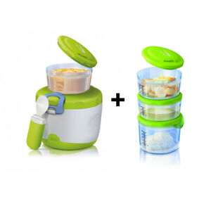 CHICCO Easy Meal Thermos Portapappa System 6m + 4 Contenitori Varie misure