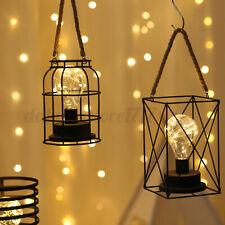 Cage Lantern Retro Bulb Guard Lamp Light Clamp Metal Lampshade Pendant Decor