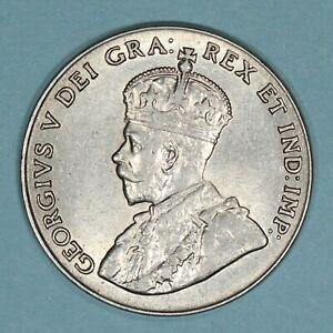 1928 Canada 5 Cents coin, AU/UNC, KM# 29