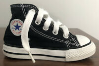 Converse All Star Chuck Taylor Canvas Black High Top Sneakers Size 5 Infants EUC