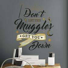 RON WEASLEY MUGGLES QUOTE GIANT WALL DECALS Harry Potter Stickers Magical Decor
